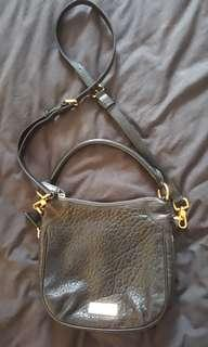 Marc Jacobs by Marc Jacobs black pebbled lambs leather cross body bag