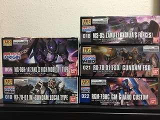 HG Gundam The Origin Kits