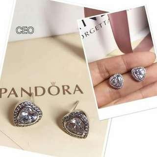 Pandora silver earrings