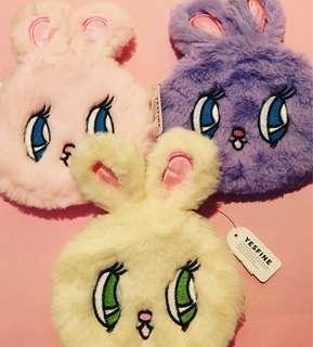 Japanese Anime Rabbit Furry Zipper Pouch