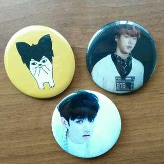 [CLEARING] BTS badges !!