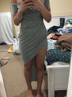 Grey high low dress
