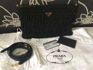 authentic prada clutch/sling bag