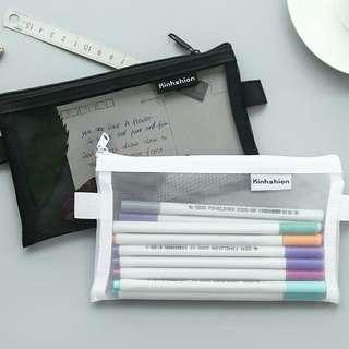 [PO] transparent mesh pencil case