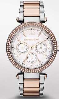 BRAND NEW MICHAEL KORS Women's Parker Rose-gold two-tone Bracelet Watch, 38mm