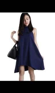 SALE: CARRISLABELLE BLACK HALTER FLOWY DRESS