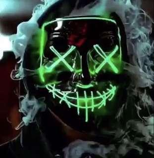 Neon Skull Mask for Party Animals