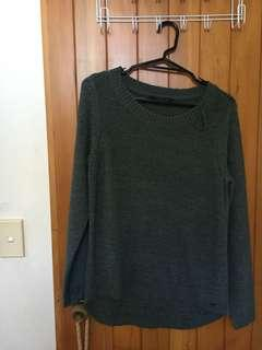 ONLY brand khaki knit sweater