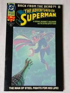 "Vintage Superman ""Back from the Dead"" Comic by DC Comic"