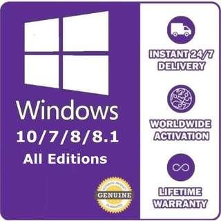 Windows 10 Pro/Home - Genuine Product Key 32/64bit
