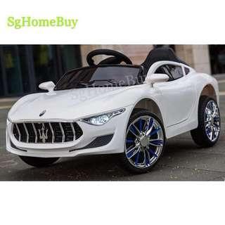 In-stock - New white Maserati kids electric car