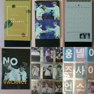 WANNA ONE DANIEL ONG ONGNIEL FANSITE 2018 SEASON GREETINGS NO VACANCY BY HEAVEN SENT