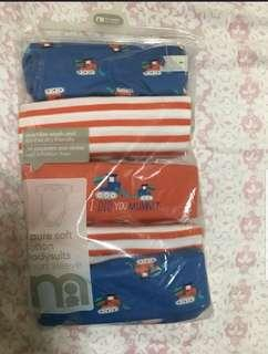 🚚 *6M* Brand new Mothercare 5 Pack Bodysuits For Baby Boy