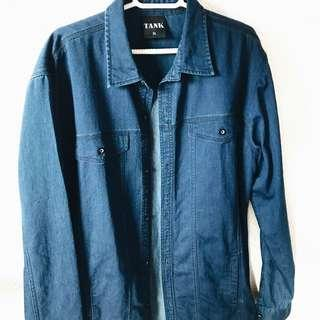 tank oversized blue denim jacket