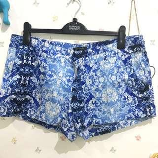 Cotton on blue batik pants