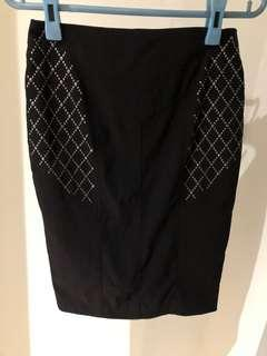 BNWT Le Chateau Black Skirt Size 00 Fits XS