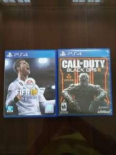 FIFA 18 & CALL OF DUTY BLACK OPS 3