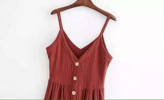 Brand New Midi Button Dress