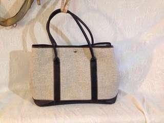 Hermes tote spring canvas bag
