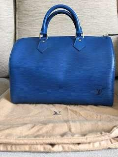 Vintage Louis Vuitton Epi Bleu Speedy 30