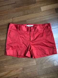 Zara Orange Shorts