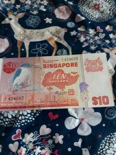 $10 bird note