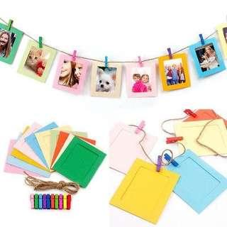 10 COLORFUL HANGING PHOTO FRAMES