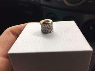 10 carat yellow gold with 1 whole total diamond weight