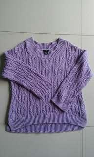 H&M purple knitted top