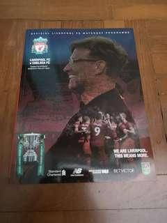 Liverpool vs Chelsea Carabao Cup Home Programme