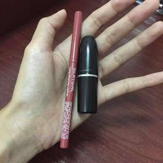MAC Matte Lipstick (Kinda Sexy) & Lipliner