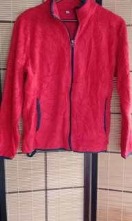 1296 UNIQLO RED WITH BLUE PIPING JACKET (M)