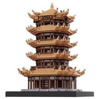 (4000pcs)積木模型黃鶴樓中國建築