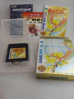 Gameboy Pokemon Pocket Monsters Gold 金 Game Boy 寵物小精靈