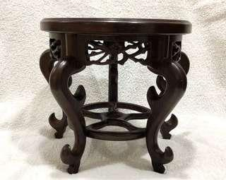 Solid Chicken Wings Wood Oriental Flower Stand