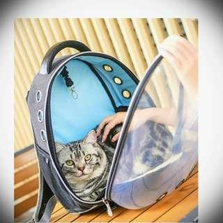 Cats kitty backpack 貓包寵物背包外出便攜包貓籠子狗狗書包手提雙肩貓咪太空艙寵物包