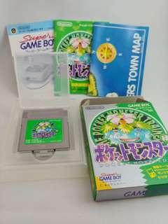 Gameboy Pokemon Pocket Monsters Green 綠 緑 Game Boy 寵物小精靈