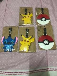 Luggage Tag - Pikachu, Stitch, Pokemon Ball