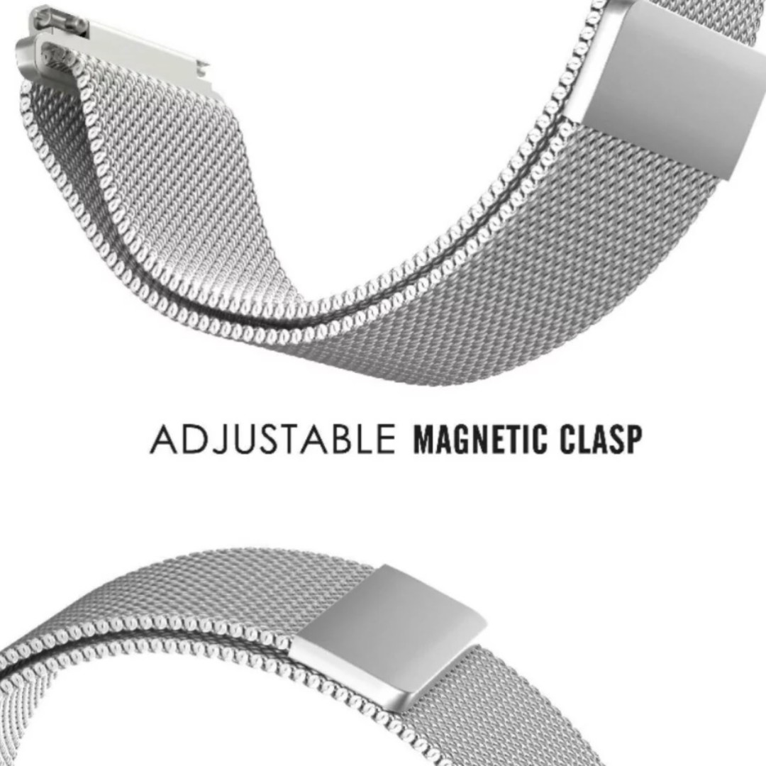 (1308) VICARA Compatible 22mm Pebble Time 2 Watch Band,Gear S3 Band with Magnetic Milanese Loop Stainless Steel Watch Strap No Buckle Needed for Pebble Time ...