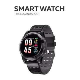 IP67 全防水 智能手錶 兩條錶帶- WHATSAPP WECHAT FB IG 信息提示/來電顯示/遙控音樂/血壓,心率監測/卡路里計算 /計步器/睡眠監測 Bluetooth smart watch