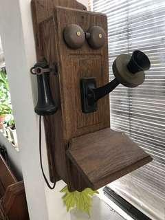 Vintage phone real oak