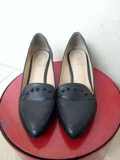 Black Loafers with Heels