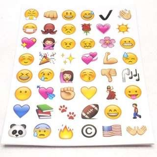 C. Lovely 48 Die Cut Emoji Smile Face Sticker for Phone Laptop (FREE POSTAGE)