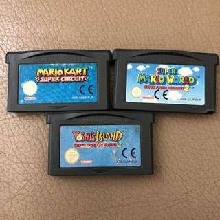 🚚 Gameboy Advance - Mario Kart, Mario Word, Yoshi Island Europe Version
