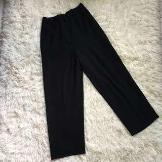 chiffon black pants