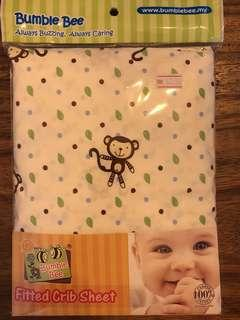 """Bumble bee baby cot fitted sheet (52""""x28"""")"""