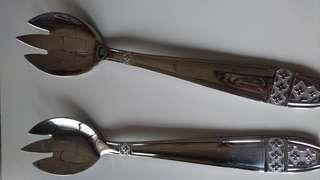 全新 不鏽鋼 多功能款 湯叉匙