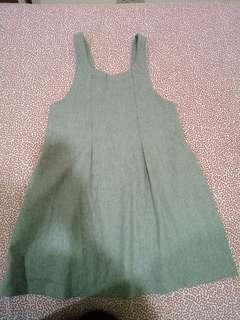 🚚 【全新】BY3 灰色吊帶裙(M)
