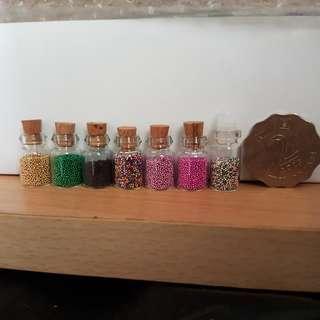 7樽 迷你多顏色小珍珠 (可作美甲或手作)Tiny colorful beads/pearls for nail art or crafting