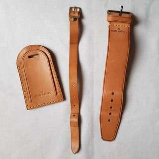 Vintage Louis Vuitton Luggage Tag and Handle Strap